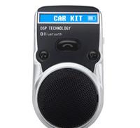 Wholesale solar bluetooth car kits resale online - Solar Powered Bluetooth Car Kit LCD Display Caller ID Hands Free Bluetooth Speaker in Car Handsfree Calling