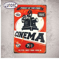 """Tin sign """"finest Of The Fine Cinema"""" Metal Poster Signs Movie Restaurant Drive-in Cinema Paintings Wall Decor"""