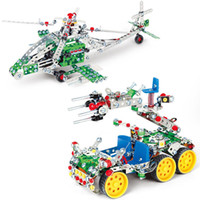 Wholesale Construction Model Kits - 3D Assembly Metal Model Kits Toy Apache fighters 816B-146 816B-147 Accessories Construction Play Set Toys for Kids