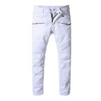 2018 balmain mens designer biker jeans color sólido de moda flaco Jogging  pantalones casual hombre pantalones marca Hip Hop Harem pantalones para  hombre a96cc8084d81