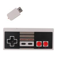 controlador de botón inalámbrico al por mayor-2.4 GHz Wireless Controller Classic 2 botones Gamepad Joystick para NES Classic MINI con caja al por menor envío libre de DHL
