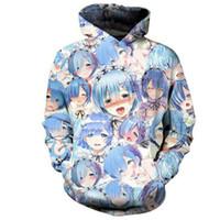 sweat à capuche pour filles achat en gros de-Hot Men 3d Print Drôle Anime Shy Girl Hoodie Femmes / Hommes Ahegao Hoodies Hoodies Poche Sweat-shirts
