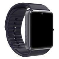 akıllı dokunmatik ledli saat toptan satış-Dokunmatik Ekran Ile Bluetooth Smart İzle Erkekler GT08 Büyük Pil Sim Kart Kamera iPhone Android Için