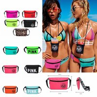 Wholesale travel purses online - Pink letter Beach Waist Bag Fanny Pack Travel Collection handbag Fashion Girls Purse Bags Outdoor Bags Cosmetic Bag Styles FFA160