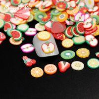 ingrosso argilla polimerica 3d fimo-Nuovo 2000 pz / pacco 3D Nail Art Frutta Fimo Fette Polymer Clay Fetta DIY Decorazione Nail Sticker Monili All'ingrosso MJ0021