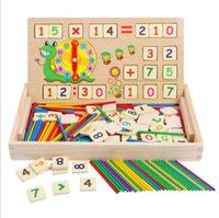 juguetes para matematicas al por mayor-Niños Madera Inteligencia digital Aritmética Matemáticas Juguetes Bebé Matemáticas Contando Juguetes de aprendizaje para niños Ayudas de enseñanza