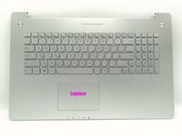 üst klavye toptan satış-Yeni Orijinal Asus N750 N750J N750JK için Rus Aydınlatmalı klavye N750JV Topcase ile Gümüş Palmrest ve touchpad