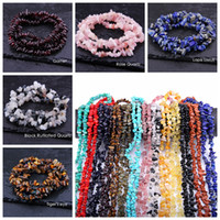 Wholesale lapis lazuli wholesale jewelry - 5-8mm Natural Turquoise Lapis lazuli Garnet Stone Beads Freeform Chip Loose Gravel Beads For Jewelry Making Necklace Bracelet