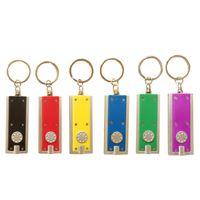 Wholesale keychain gift boxes - Tetris LED Light Box-type KeyChain Light Key Ring LED advertising promotional creative gifts small flashlight Keychains Lights
