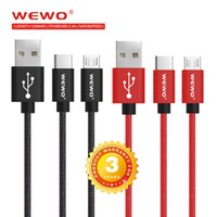 Wholesale I Devices - Micro USB Cable Nylon High Speed 2.0 Charging Cable Cord for Samsung S7 I phone X 8 Android Devices Xiaomi 6 cell phone usb cables