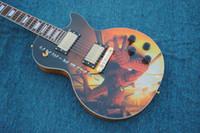 Wholesale custom made electric guitars resale online - Custom shop spider man lp custom electric guitar china custom shop made guitarra guitars