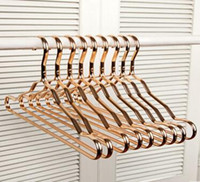 Wholesale holds clothes hangers for sale - Group buy Metal Hangers Adult Suit Thickening Shelf Clothes Drying Racks Anti Skidding Curve Design Coat Hanger Seamless Rose Gold Rack