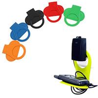 apfel iphone handy halterungen halter großhandel-Neuestes faltendes Handy-Ladegerät-Paletten-Reise-Stand-Halter-bewegliche Batterie, die hängende Haken-Sauger-Halterungen für iphone 5S 6S Mp3 auflädt