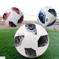 Wholesale paste cup - 2018 New RUSSIA Premier PU football Ball World soccer Ball high-grade seamless paste skin Soccer outdoor Sport Training football Cup