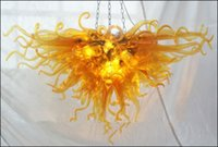 feine lampen großhandel-Kostenloser Versand 110V / 120V Competitive Hotels Lampe helle Murano Glas Fine Art Kronleuchter mit LED-Birnen