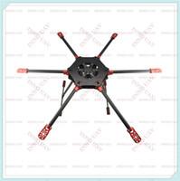 ingrosso telaio in fibra di carbonio fpv-[INNLOI UAV Drone agricolo su misura] 6-rotore 800mm pieghevole in fibra di carbonio Hexa copter frame / Six Copter Frame / Patrol UAV / Buono per FPV