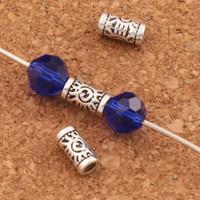 Wholesale black evil eye charm resale online - 800pcs Evil Eye Tube Beads Evil Eye Charm Bead Antique Silver Tubes L1796 x3x3mm Jewelry DIY
