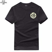 ingrosso abbigliamento anime maschile-Dragon ball super t shirt goku costume da uomo tshirt anime maschio Dragonball super Z Beerus blu t-shirt abbigliamento top tees