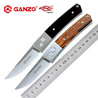 Wholesale ganzo knives online - Firebird Ganzo G7361 HRC C blade wood handle folding knife outdoor tactical camping EDC tool Hunting Pocket Knife