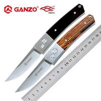 ingrosso coltelli da tasca per maniglie in legno-Firebird Ganzo G7361 58-60HRC 440C lama manico in legno pieghevole coltello all'aperto tattico campeggio strumento EDC Caccia Pocket Knife
