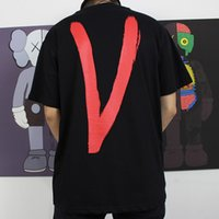 Wholesale painted hands - 18ss VLONE Life Lone Love T-Shirt Hand Painted Fashion Tee Men Women Loose Casual T-shirt Streetwear Hip-hop Crew Neck Summer Tee HFLSTX214