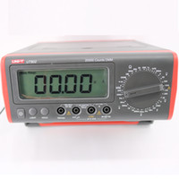 Wholesale lcd digital amp resale online - UNI T UT802 LCD Display Bench Type Digital Multimeters Volt Amp Ohm Capacitance Hz Counts Tester High Accuracy