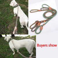 Wholesale dog led collar leashes resale online - NEW Design Dog Leash High Quality Nylon Adjustable Training Lead Collar Dog Strap Rope Traction Dog Harness Collar Lead