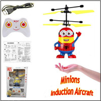 Wholesale RC helicopter Drone kids toys Flying Ball Aircraft Led Flashing Light Up Toy Remote control Induction Aircraft Toys for Children Christmas