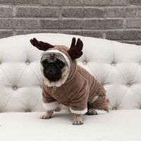 ayı köpeği kostümleri toptan satış-Pet giysi Elk sıcak kış köpek giysileri yüklü Teddy bear kostüm Cadılar Bayramı Pet Noel Köpek Giysileri Kostüm