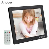"Wholesale digital movie picture frames - Andoer 12"" HD LED Digital Photo Picture Frame 800*600 MP4 MP3 Movie Player Clock Calender Remote Control Christmas Gift"
