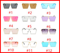 Wholesale Round Style Glasses For Men - sunglasses for Women's 2018 Stylish New Square Glasses Anti-UV UV Grade UV400 Individual Sunglasses Available in a variety of styles