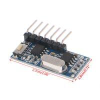 receptor de canal rf al por mayor-433 MHz Código de RF Módulo receptor de aprendizaje 1527 Decodificador inalámbrico 4 Canal de salida para control remoto