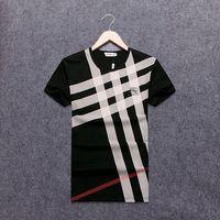 Wholesale winter shirts men - Brand new Hip Hop g& g winter men's t-shirt Short Sleeve 100% Cotton poloshirt shirt men teel hip 3g Designer mens t shirts #B8725