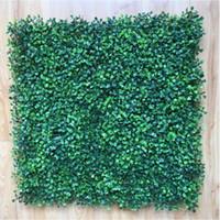 plantas plásticas artificiales al por mayor-50x50cm Hierba Artificial Estera de boj de plástico árbol topiary Milan Grassfor jardín, hogar, decoración de la boda Plantas Artificiales