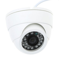 caméras grand angle achat en gros de-Nouveau 800TVL CCTV couleur IR caméra de sécurité couleur dôme grand angle intérieur 24LED blanc