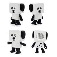 Wholesale mini kids mobile phone - Mini Super Cut Smart Dancing Robot Dog Bluetooth speaker Multi portable Bluetooth Speakers New years Christmas Gift For Child Kids