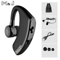 micrófono al por mayor-Auriculares inalámbricos Bluetooth MJ V9 Auriculares con cancelación de ruido y manos libres para negocios con micrófono estéreo para teléfonos inteligentes Driving Drive