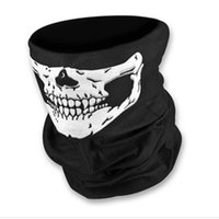 Wholesale black yellow half helmets resale online - Magic Skull Bandana Helmet Neck Face Masks For Bike Motorcycle Ski Outdoor Sports Halloween Skeleton Scarf Style