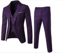 traje a medida hombres tweed al por mayor-Por encargo de lana de color marrón oscuro Herringbone Tweed estilo británico para hombre sastre slim fit Blazer hombres de boda traje 3 unids