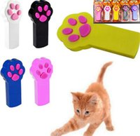 Wholesale funny exercise - PAW BEAM Funny Pet Cat Kitty Dog Interactive Automatic Red Laser Toys Pointer Exercise Toy Indicator Pet Play Funny Cat Toy KKA4318