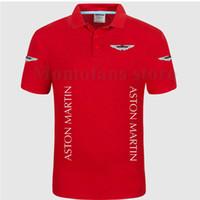 erkek şık gömlekleri toptan satış-Kadın ve erkek tarzı kısa kollu topraklar renk pamuk Aston Martin gömlek S-3XL artı boyutu kaliteli gömlek