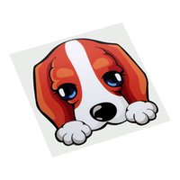 Wholesale heated motorcycle - Lovely Dog Universal Car Stickers and Decals Auto Motorcycle Sticker Anti Heat and Sunlight Car Body Decor 11*11CM