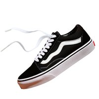 Wholesale mens baseball style - Vans Old Skool STYLE MARSHMALLOW Off The Wall Canvas Athentic Mens Designer Sports Running Shoes for Men Sneakers Women Casual Trainers
