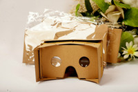Wholesale 50PCS D Glasses VR Glasses DIY Google Cardboard Mobile Phone Virtual Reality Unofficial Cardboard VR Toolkit D Glasses CCA1785 B XY