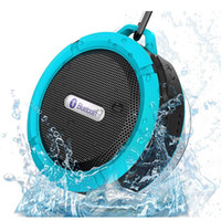 Wholesale boombox for mp3 player - DHL New C6 Bluetooth Speaker Portable Wireless Waterproof Shower Car Speakers Handsfree with Mic Cup Music Mini Boombox