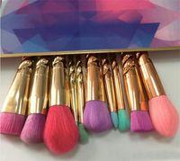 Wholesale Wholesale Screw Box - Dropshipping makeup brushes sets cosmetics brush 5 pcs bright colors rose gold Spiral shank make up brush screw tools Contour Retail box