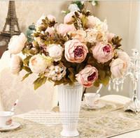 ingrosso giardinaggio peonies-18-color stile europeo peonia artificiale decorazione floreale fiore di festa famiglia hotel ufficio di nozze decorazione del giardino TO607