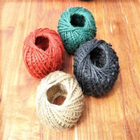 Wholesale rustic christmas decor for sale - Group buy Diy meter Natural Original Color Ropes Rustic Tags Wrap Handmade Accessories Twisted Rope Wedding Decor String Cord Party Supply bp ff