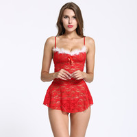 Wholesale red backless lingerie online - Summer Women Sleep Tops Lingerie  Set with Shoulder Straps Lace 322c62657