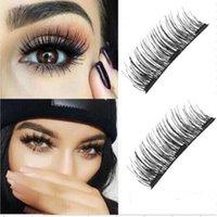 Wholesale lashes box - wholesale megnetic eyelashes beauty makeup accessory no glue reusable anti allergy female Hair Fake Eyelashes with retail box